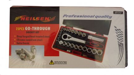 Go-Through Socket Set 25 Piece